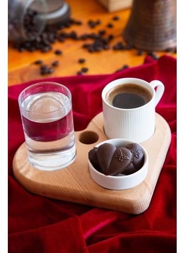 Joy Kitchen  Vıola Kalp Kahve Sunumu - 4 Parça Renkli